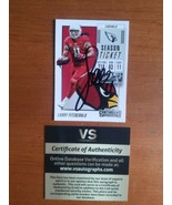 Larry Fitzgerald Hand Signed Autographed 2018 Panini Contenders Card #97... - $29.70