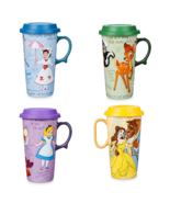 Disney Store Travel Mug Alice Bambi Mary Poppins Belle New 2019 - $59.95