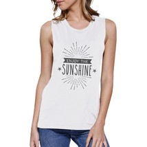 Enjoy The Sunshine Womens White Muscle Top - $14.99