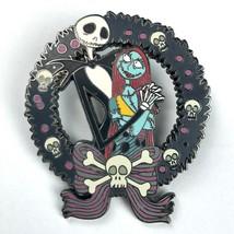 Nightmare Before Christmas Jack Sally Pin Skull Wreath 2003 Disney Tradi... - $13.50