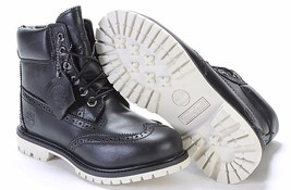 "TIMBERLAND WOMANS BROGUE 6"" INCH PREMIUM BLACK WATERPROOF BOOTS A1G75 AL... - $117.99"
