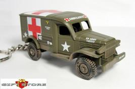 KEY CHAIN DODGE WC-54 4x4 MILITARY AMBULANCE WW2 VIETNAM KOREA MASH/ARMY... - $28.98