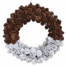 "20"" Frosted Pine Cone Wreath - $63.66"