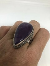 VINTAGE PURPLE AMETHYST RING SILVER BRONZE SIZE 9.5 - $84.15