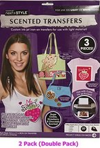 (2) Scented Iron-on Transfers Ink-jet Cookie Chocolate Strawberry - $7.97