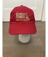 Nosler Bullets For Sportsmen Logo Ammo Snapback Cap Hat Red Test The Best - $14.00