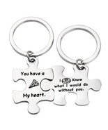 ENSIANTH Puzzle Piece Keychains Pizza Donut Gift You Have a Pizza My Hea... - $15.86
