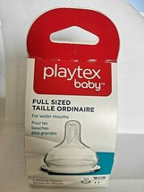Playtex Baby Silicone Bottle Nipples For Wider Mouths 3 M + Medium Flow New - $9.90