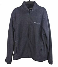 Columbia Men's Granite Mountain Fleece Jacket Small Charcoal Heather - $34.55