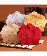 POPIGIST® 100pcs/Lot European Style Hollow Out Lace Wedding Box Candy - $51.45