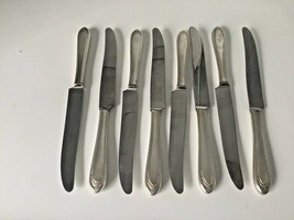 8 Love Lace Modern Hollow Grille Knife 1847 Rogers Bros Silver Plate Fla... - $34.99