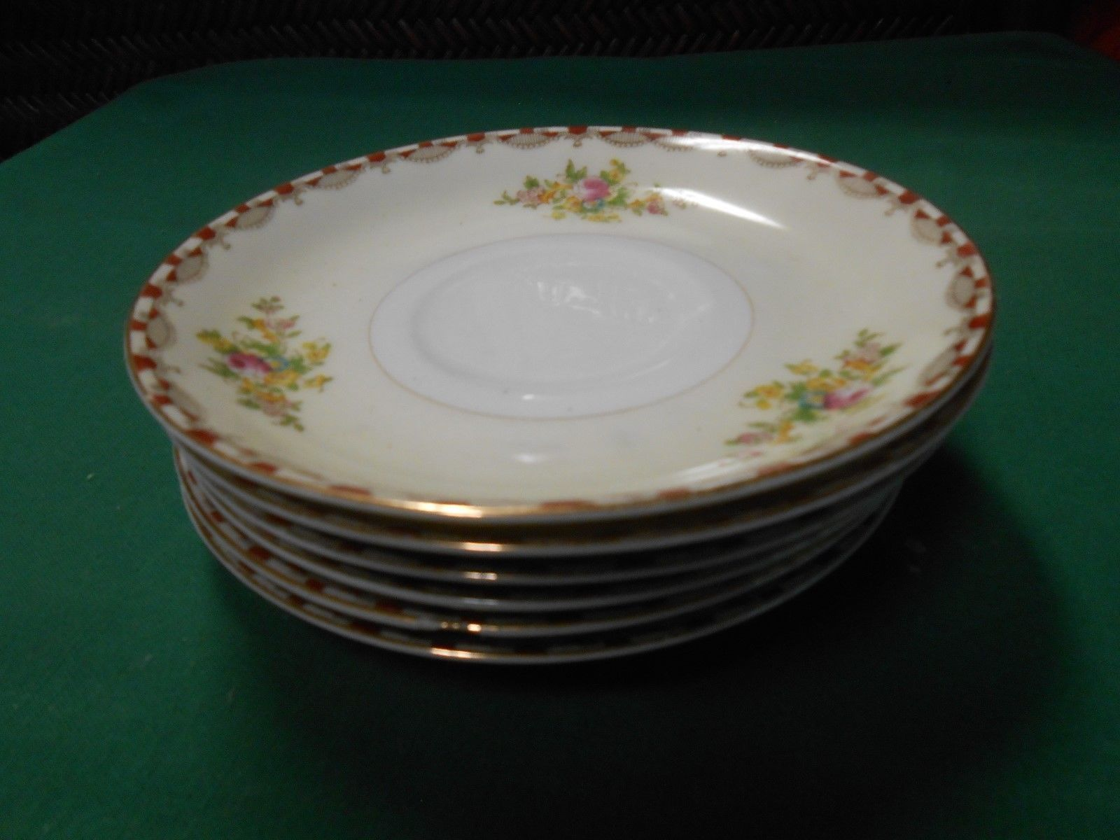 Primary image for Great MEITO China Handpainted ...Set of 6 SAUCERS