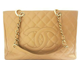 Chanel - Leather Grand Shopping Tote - Tan - $2,376.00