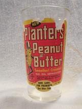 Vintage 1950's Planters Peanut Mr Peanut Peanut Butter Glass 8 Oz - $37.95
