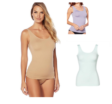 Yummie 3-pack Seamless 2-Way Shaping Tank, White/Thistle/Almond, 1X/2X (... - $34.64