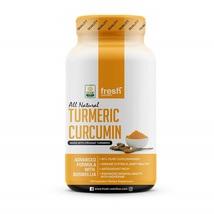 Fresh Nutrition Organic Turmeric Curcumin with Boswellia  Bioperine 120 ... - $96.99