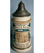 HUMMEL & GLASER Brooklyn, NY Advertising Beer Stein made in Germany - $42.75
