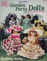 Garden Party Dolls, American School Needlework Crochet Doll Clothes Pattern 1172 - $4.95