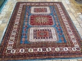 "Oriental Rug Fine super Kazak Wool  Hand Knotted Tribal Design Rug 5'10"" X 7'10"" - $1,583.01"