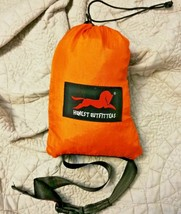 Honest Outfitters Orange Travel Hammock With Small Carry Bag - $13.11