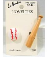 FREEBIE Baseball and Bat Novelty Buttons - $0.00
