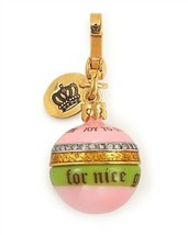 Juicy Couture Charm 2008 Ltd Holiday Ornament Goldtone NEW - $67.32