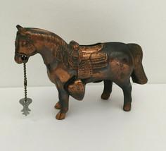 Vintage Metal Horse Bank with Key - $16.82