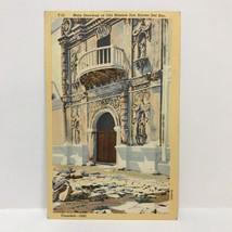 Postcard VTG 1936 Catholic Church Main Doorway at Old Mission San Xavier... - $5.93