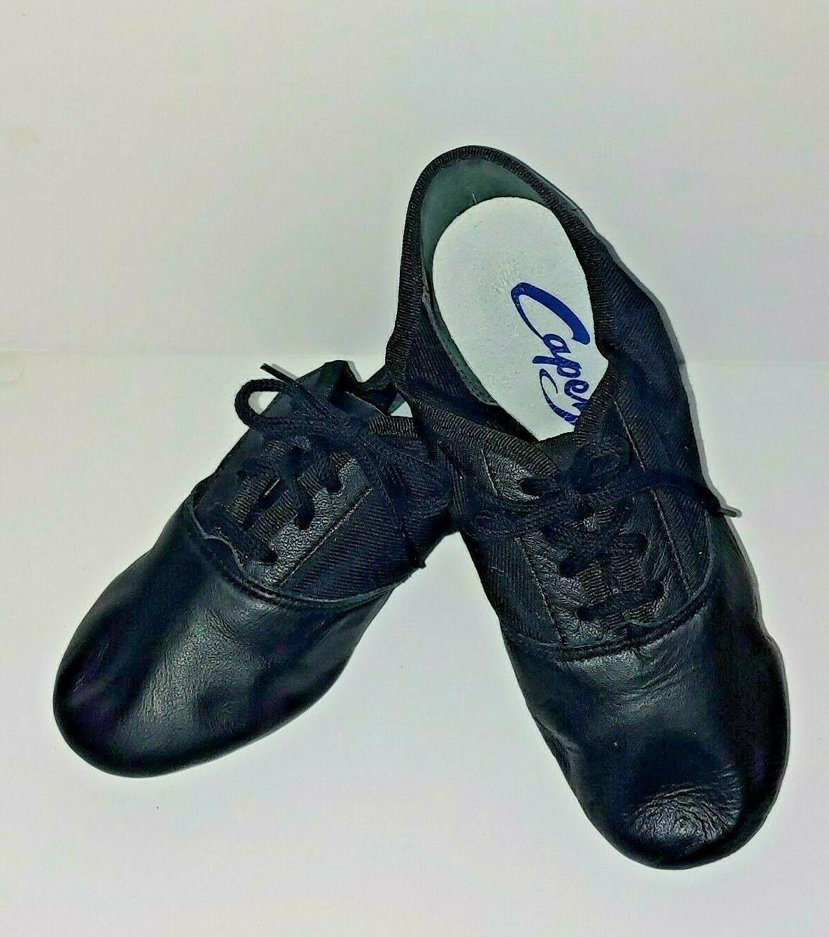 Capezio 358C Black Lace Split-Sole Jazz Shoe Child Size 1M 1 M