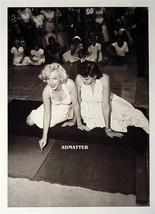 Marilyn Monroe & Jane Russell writing  in Hollywood sidewalk 2-Sided Pin... - $7.84