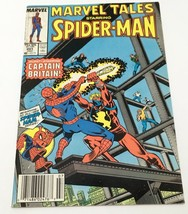 Marvel Tales Starring Spiderman Guest Captain Britain 1987 Comic Book 201 Marvel - $10.83