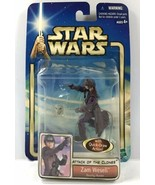 NEW Hasbro Star Wars Attack Of Clones - ZAM WESELL Bounty Hunter - 2001 NIP - $18.95