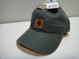 Carhartt Mens Hat Color Dark Green Size Adjustable - $21.46