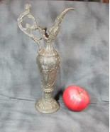 Elaborate Antique Victorian Brass Ewer Ornate Woman's Head Handle, Alleg... - $41.13