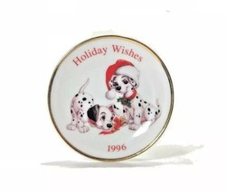 Keepsake Ornament Holiday Wishes 1996 Collector's Plate 101 Dalmatians - $3.47