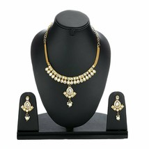 Gold Plated Kundan Necklace Set With Earring Designer Jewellery For Wome... - $17.81
