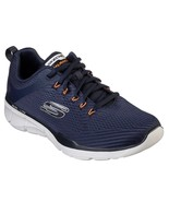 52927 Ew Muy Ancho Azul Marino Naranja Skechers Zapato Hombre Espuma - $49.19