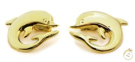 14k Yellow Gold Dolphin Earrings Italian Made - 7.01 Grams - $1,195.00