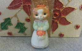 1989 Hallmark Collectors Series Christmas Kitty Fine Porcelain Ornament ... - $9.10