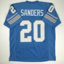 New BARRY SANDERS Detroit Blue Custom Stitched Football Jersey Size Men'... - $49.99
