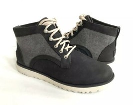 Ugg Bethany Canvas Black Lace Up Shearling Sneakers Boot Us 8 / Eu 39 / Uk 6.5 - $92.57