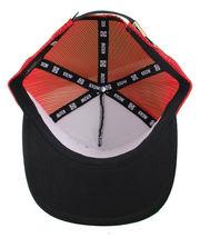 Kr3w Krew Black Red S'Kr3w You! FU Leather Strapback Trucker Baseball Hat NWT image 9