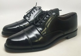 "COLE HAAN ""CITY"" MEN'S BLACK LEATHER  CAP TOE OXFORDS SIZE 10D #813368-04 - $64.30"