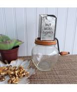 Nut Meat Chopper Original Orange Paint Hazel Atlas Glass Bottom 1930s Me... - $40.00