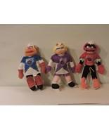 "Set of (3) NHL Hockey Muppets Miss Piggy, Animal and Fozzie Plush Toys 12"" - $14.85"