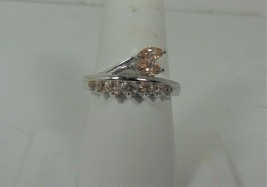 Sterling Silver Peach Colored Stone Ring Size 7.25 - $19.79
