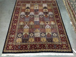 Indo Persian Qum Golestan Design Wool Hand Made  Area Rug 9 x 12 - $1,583.01