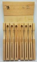 """AJ Henkels 13-Slot Blonde Wood Flat In-Drawer Knife Block 18"""" x 10"""" - $39.95"""