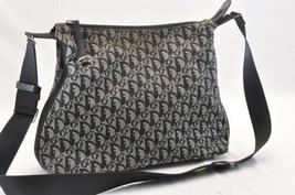 Christian Dior Trotter Canvas Shoulder Bag Black Auth 7412 - $240.00