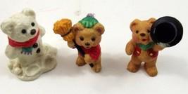 Hallmark Merry Miniatures Snowbear Season 3 Pieces Teddy Bears 1997 - $6.99